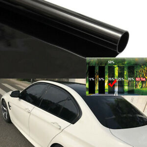 50cmx3m 15% Black Universal Car Home Glass Window Tint Vinyl Film Cover Roll