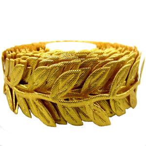 """20yards Silk Leaves Ribbon Artificial leaf Garland Headband Craft Decorations 1"""""""