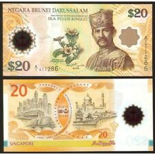 Brunei 20 Ringgit 2007 Commemorative Unc P 34 A