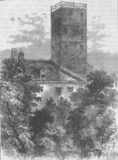 ELEPHANT & CASTLE. The Telegraph Tower, in 1810. London c1880 old print