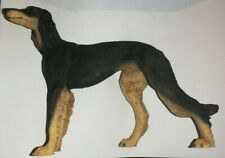 More details for black & brown saluki dog model - by castagna (1996) - repaired - free p&p