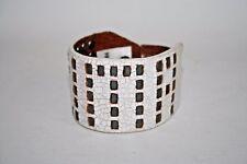 New PUMA Fashion Leather Bracelet Studs Large Bracelet White Logo Vintage Style