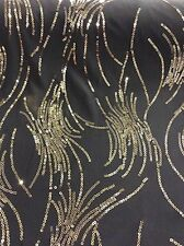 DANCE COSTUME STRETCH GREY FABRIC WITH SEQUIN SPRAYS ALL OVER STUNNING M83
