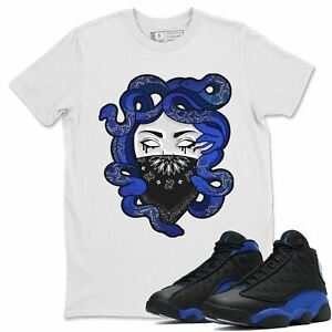 Air Jordan 13 Hyper Royal Medusa T-Shirt