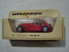 Matchbox Yesteryear 1945 MG-TC Red Y-8 Lesney England 1977 Mint in pac