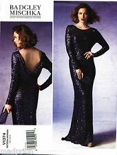 VOGUE SEWING PATTERN 1374 MISSES SZ 14-22 BADGLEY MISCHKA FISHTAIL EVENING GOWN