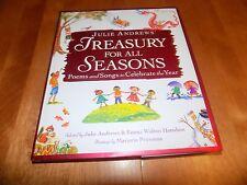 JULIE ANDREWS TREASURY FOR ALL SEASONS Poems & Song Music Poetry Art Songs Book