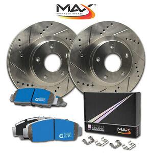 Max Performance Metallic Brake Pads F+R 2014 2015 Fit Dodge Durango See Desc.
