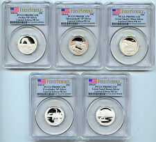 2014S NP ATB Limited Edition 5 Coin Silver Proof Quarter PCGS PR69 DCAM 25C  Set
