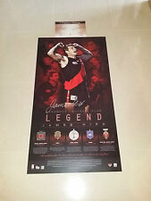 ESSENDON BOMBERS JAMES HIRD SIGNED LEGEND LIMITED OFFICIAL LITHOGRAPH PRINT