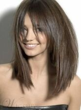 2018 New Womens Wig Attractive Medium Straight Capless Synthetic Hair Wigs