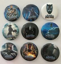 Lot of 9 Marvel Black Panther Badges - 3cms diameter Party loot bags favours