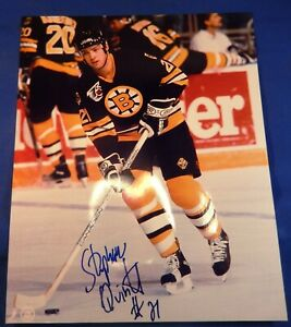 Boston Bruin Stephan Quintal Signed  Autograph Photo w/COA - 1992