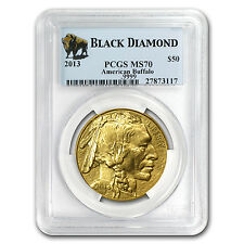 2013 1 oz Gold Buffalo MS-70 PCGS (Black Diamond) - SKU #77384