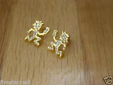 ICP HATCHET MAN STUD PAIR EARRINGS--SILVER COLOR / GOLD COLOR  BLING BLING