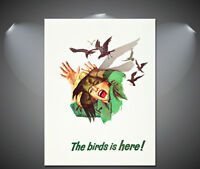 Alfred Hitchcocks Birds Vintage Movie Poster - A1, A2, A3, A4 sizes