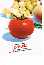 PUBLICITE  ADVERTISING  1993   PRISUNIC  magasin  rayon fruits & légumes