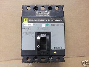Square D FAF32050 3 Pole 50 Amp 240V Gray Label Circuit Breaker