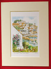 CRAIL HARBOUR FIFE CHARMING MOUNTED WATERCOLOUR PRINT 8X6 QUALITY AND VALUE