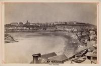 France, Granville, vue générale de la cité  Vintage albumen print Tirage alb