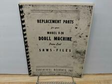 DoAll V-26 Saw & File Machine Parts Manual