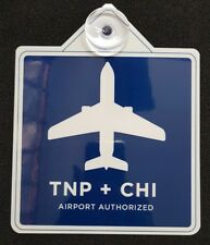 UBERs LYFTs HQ  REMOVABLE Chicago  AIRPORT Legal DECAL SIGN PLACARD  TNP + CHI