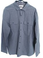 Banana Republic Heritage Collection Grant Fit Mens Size XL Gray Button Up Shirt