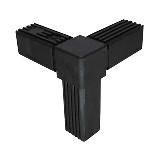 """Steckverbinder """"Winkel m Abgang"""" Vierkantrohr 25x25x1,5 verbinder schwarz"""