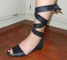 Farylrobin Women's April Leather Ankle Wrap Flats Sandals Retail $138 size 7