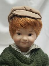 """Dianna Effner Porcelain Storybook Doll by Edwin Knowles 8"""" Snips and Snails"""
