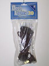 Indoor / Outdoor 20 Clear Bulb Lights String/Strand Brown Cord Home Decor