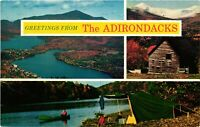 Vintage Postcard - Adirondack Mountain Scenery Posted 1970 New York NY #1793