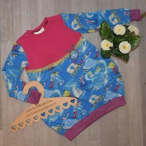 "handmade ""FELI"" Ballontunika Tunika Kleid Prinzessin blau pink lila Gr. 104/110"