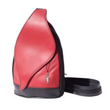 Bolsos de mujer mochila de piel color principal rojo