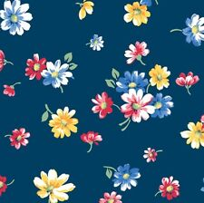 Multiple Size Cotton Falling Blossom White Andover Fabric Strawberry Jam
