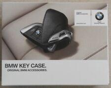 Original BMW Schlüsseletui Leder Schwarz mit Edelstahlspange - Geschenk