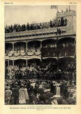 Kaiserbesuch in Hamburg Beim Rennen um den Hansapreis auf dem Horner Moor v.1904