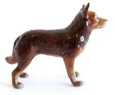 Miniature Porcelain Hand Painted Dog Figurine - Australian Red Kelpie