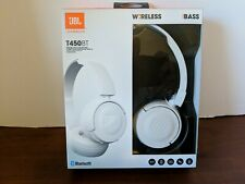 JBL Harman T450BT Wireless Bluetooth Headphones White Overear New in Box