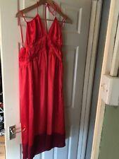 BNWT Womens Dress It Orange and Red Strappy Halter Neck Dress. Size 20