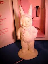 Snow Bunnies Figurine Rabbit Dept 56 I've Got A Surprise (2600-0) w/box Bunny