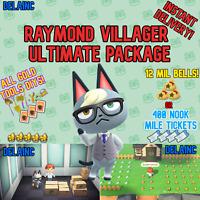 Animal Crossing New Horizons RAYMOND Villager + 12 MIL or 400 TICKETS + BONUS
