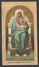 Estampa Virgen de Ripoll andachtsbild santino holy card santini