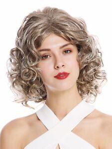 Wig Ladies Shoulder Length Curls Curly Great Parting Blonde Braun Ash Blond