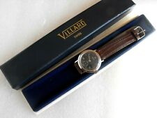 Vintage VILLARD Blue empty Wrist Watch Box/Case 60's Swiss made mod.depose