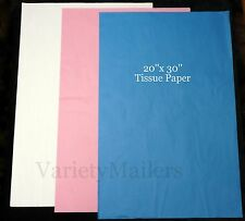 """30 Large 20""""x 30"""" Sheets of Tissue Paper ~ 3 Colors Matte Finish ~ Free Shipping"""