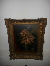 Very old oil painting,{ Still life - beautiful flowers, is signed, great frame!}
