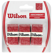 3 Wilson Advantage Grips/Overgrips - Red - Free P&P