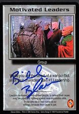 BABYLON 5 CCG Bill Blair DELUXE EDITION Motivated Leaders AUTOGRAPHED