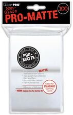 Card Supplies Non-Glare Pro-Matte White Standard Card Sleeves [100 Sleeves]